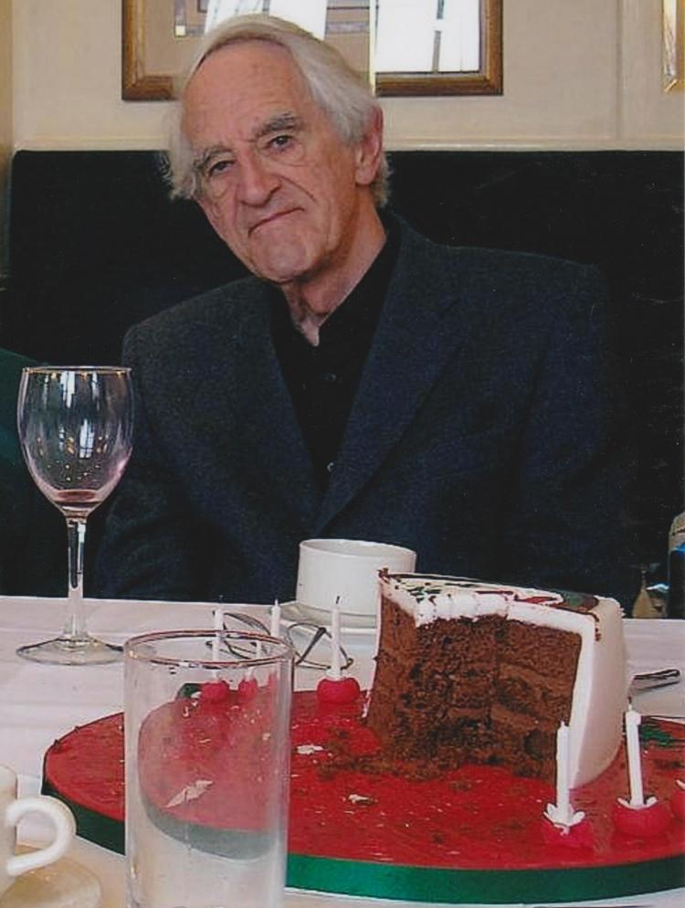Hugh Brady on his 80th birthday, at Le Columbier