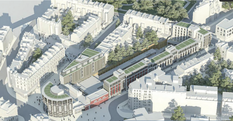 The proposed Bullnose tower and surrounding buildings would dwarf and overshadow the listed station